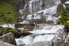 Tvindefossen waterfall. Near Voss, Norway Royalty Free Stock Photos