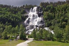 Tvindefossen waterfall Royalty Free Stock Photos