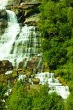 Tvindefossen waterfall near Voss, Norway Royalty Free Stock Photography