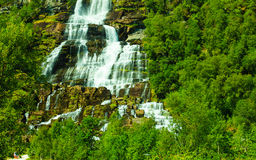 Tvindefossen waterfall near Voss, Norway Stock Photography