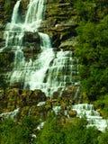Tvindefossen waterfall near Voss, Norway Royalty Free Stock Image