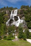 Tvindefossen waterfall, Norway Royalty Free Stock Photos