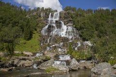 Tvindefossen Waterfall Royalty Free Stock Image