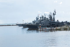Tvingat ryskt militärt hav royaltyfri fotografi