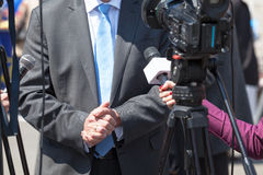 TVintervju nyheterna Royaltyfri Fotografi