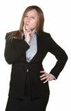 tvivelaktigtt kvinna för affär royaltyfri fotografi