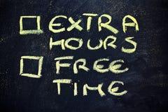 Tvivlar: val mellan arbete och fri tid Arkivfoton
