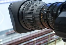 TVkamera för TV-sändninghandboll Arkivbilder