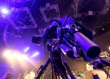Tvkamera i en hal konsert Royaltyfri Bild