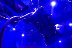 Tvkamera i en hal konsert Royaltyfri Foto
