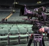 Tvkamera i en konserthall Royaltyfria Foton