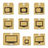 TVkartonger Arkivbild
