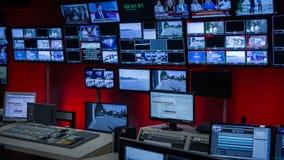 Tvkontrollrum royaltyfria bilder