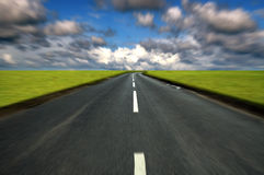 tävlings- väg för land Arkivfoto
