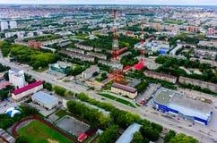 TVmitten och shoppar i Tyumen Ryssland Royaltyfri Fotografi