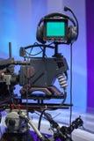 TVNYHETERNAstudio med kameran royaltyfria bilder