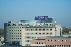TVP-byggnad arkivbilder