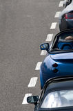TVR Tamora and Griffith and Aston Martin. Line up at Silverstone race track Royalty Free Stock Photos