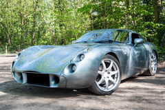 TVR Tuscan English sport car. Frontal part of TVR Tuscan, English sport car parked on a road Stock Image
