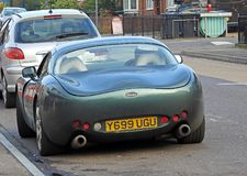 Tvr tuscan sportscar in traffic Stock Images