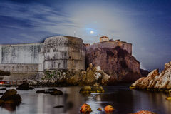 Tvrdova Bohar, Dubrovnik, Croatia. Night shot of Tvrdova Bohar in Dubrovnik, Croatia. This it one of the main fortresses in Dubrovnik Stock Photos