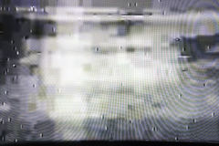 Tvskärm med statiskt oväsen, dålig signal Royaltyfria Foton