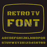 TVstilsort Arkivbilder
