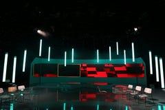 TVstudio royaltyfria bilder