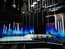 TVstudio - inregarnering och ljus royaltyfri bild