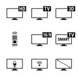 TVsymboler Arkivbilder