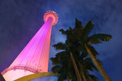 TVtoren van Menara in Kuala Lumpur (Maleisië) royalty-vrije stock fotografie