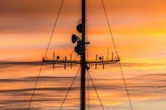 TVtorn på solnedgången i Orenburg Royaltyfria Bilder