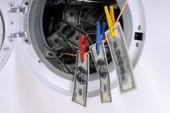 tvätta pengar Arkivbilder
