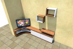 TVuppsättning 3D Arkivfoto