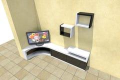 TVuppsättning 3D Royaltyfri Fotografi