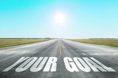 Twój cel Pojęcie sukces osiągnięcie rozwój osobiste ilości i inni cele, fotografia royalty free