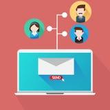 Twój emaila marketingu drużyna ilustracji