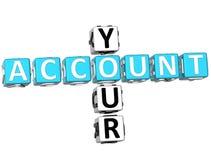 Twój Obrachunkowy Crossword Fotografia Stock
