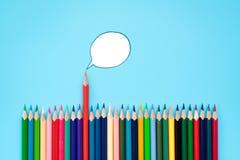 Twój opinii sprawy grupa kolor części opinia na błękitnym tle zdjęcia stock