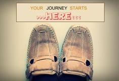 Twój podróż zaczyna tutaj Zdjęcie Royalty Free