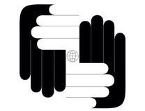 twój ręka wszystkie świat Obraz Royalty Free