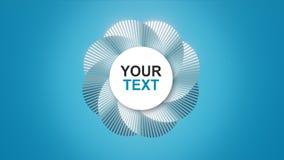 Twój tekst, logo na abstrakcjonistycznej spirali/ ilustracji