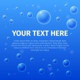 Twój tekst tutaj na bąbla tle Zdjęcia Stock