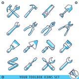 Twój toolbox linii wektoru ikona ustawiająca ilustracja Zdjęcia Stock