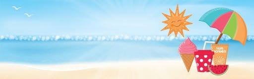 twój wakacje rodzinny szczęśliwy lato royalty ilustracja