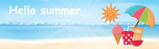 twój wakacje rodzinny szczęśliwy lato ilustracja wektor
