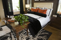 twórca nowoczesne sypialnia obraz stock
