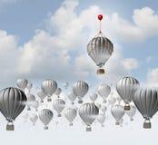 Twórczość kreatywnie pomysł jako pojęcie główkowanie z pudełka jako unikalny różny rozwiązanie dla biznesowego sukcesu jako 3D royalty ilustracja