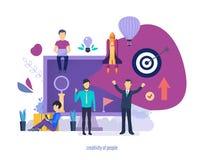 Twórczość ludzie Kreatywnie pomysły, biznesowego uruchomienia projekty royalty ilustracja