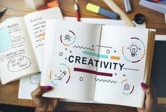 Twórczość pomysłów projekta wymyślenia grafiki pojęcie Zdjęcie Royalty Free